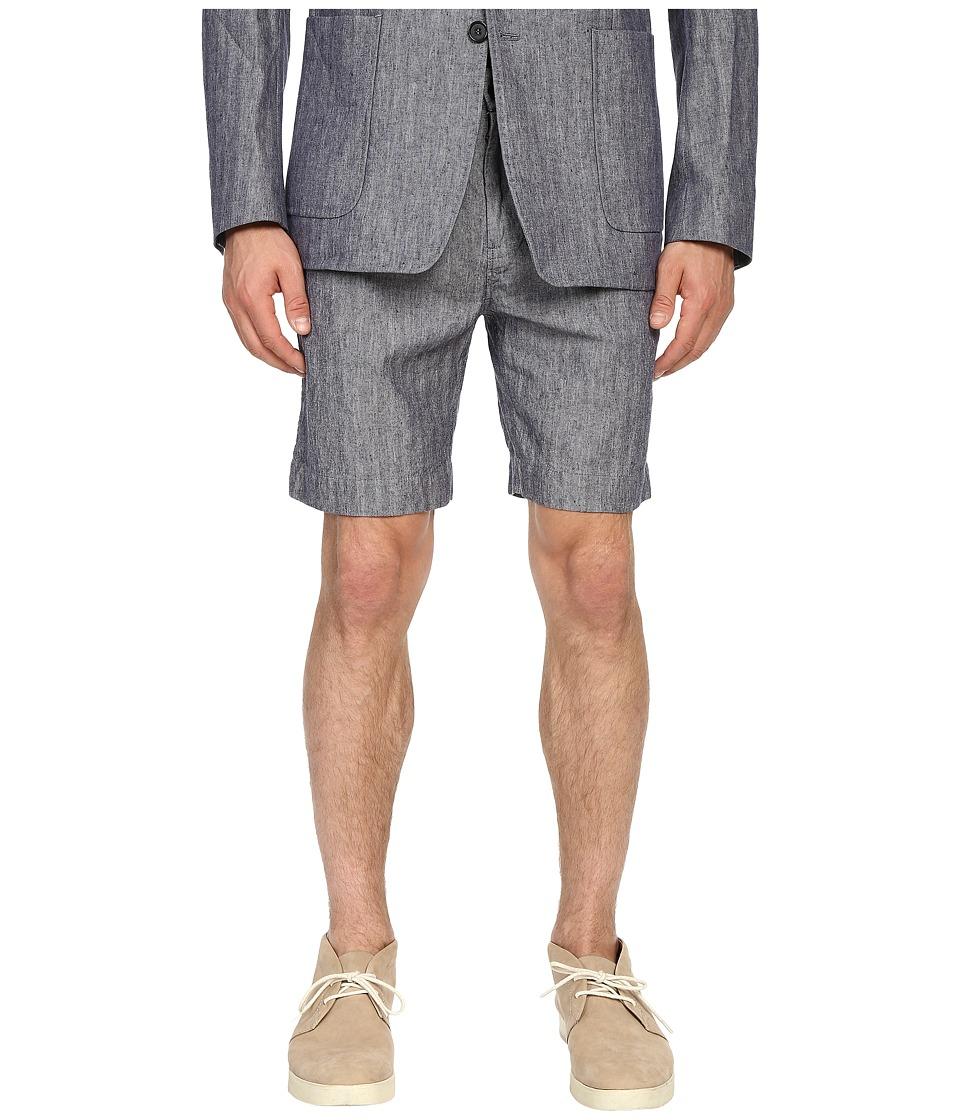 Billy Reid Chino Shorts Blue Mens Shorts