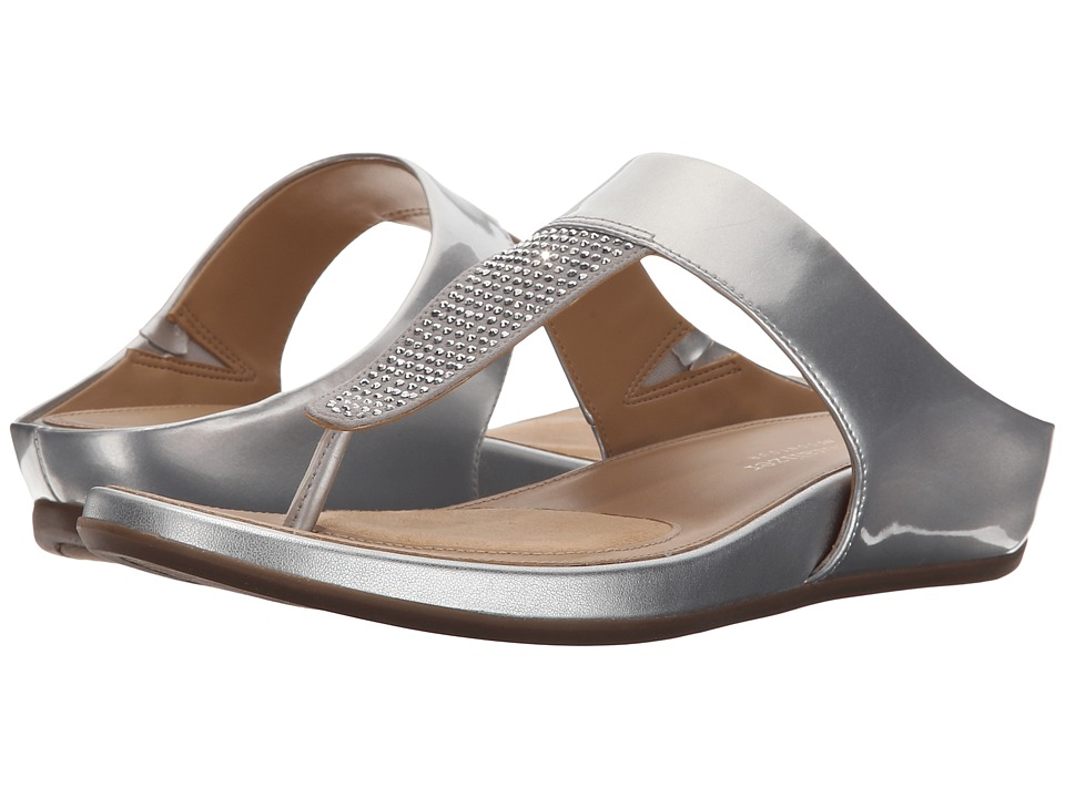 Naturalizer Yippee Silver Shiny/Crystals Womens Sandals