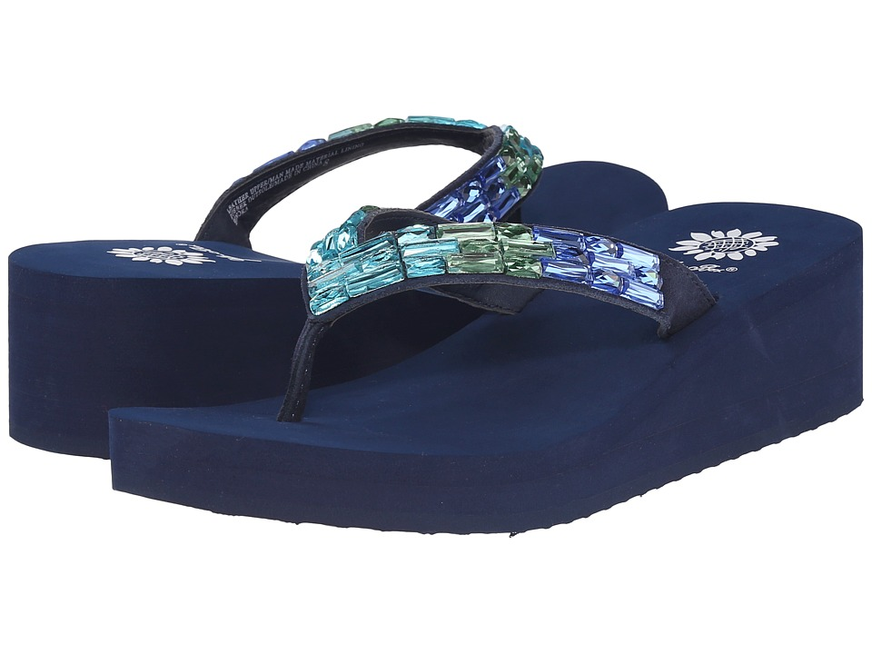 Yellow Box Honora Blue/Green Womens Sandals
