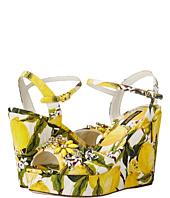 Dolce & Gabbana - Sandalo Zeppa Broccatto