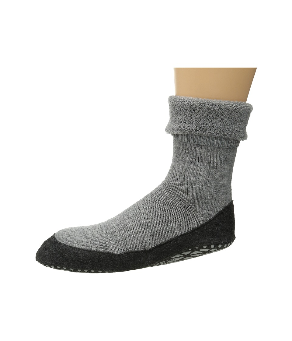 Falke Cosyshoe Light Grey Mens Crew Cut Socks Shoes
