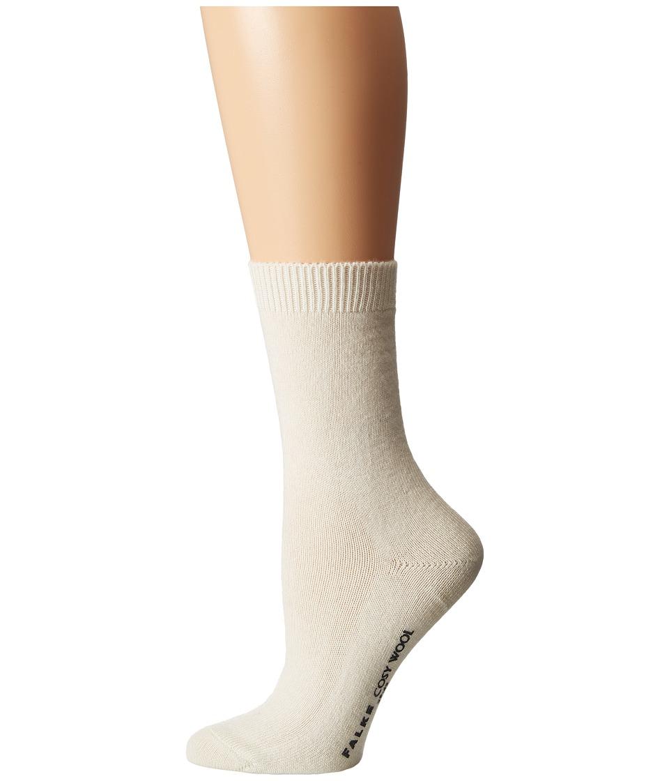 Falke Cosy Wool Sock Off White Womens Crew Cut Socks Shoes