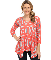 Nally & Millie - Red Tile Print Tunic