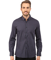 Kenneth Cole Sportswear - Long Sleeve Button Down Collar One-Pocket Stripe