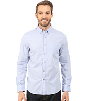 Kenneth Cole Sportswear - Long Sleeve One-Pocket Button Down Collar Dot Print