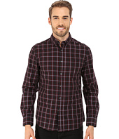 Kenneth Cole Sportswear - Long Sleeve Button Down Collar One-Pocket Large Check