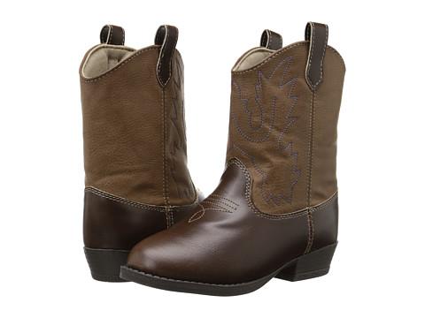 Baby Deer Western Boot (Toddler/Little Kid) - Brown