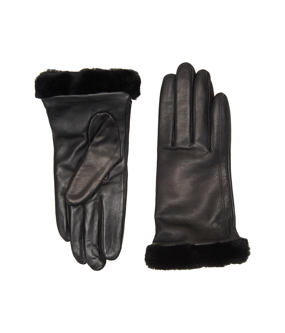UGG Classic Leather Smart Glove (Black) Dress Gloves