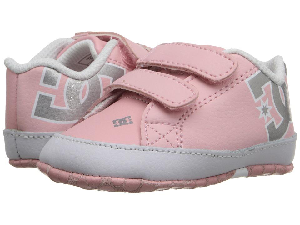 DC Kids - Court Graffik Crib (Infant) (Light Pink) Girls Shoes