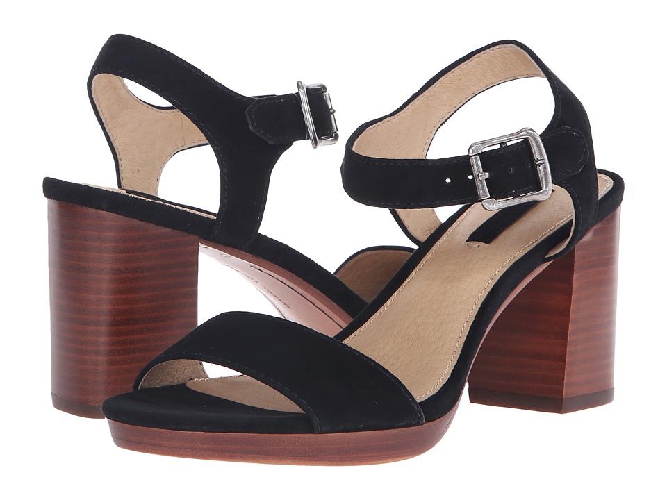 Frye - Blake 2 Piece (Black Suede) High Heels