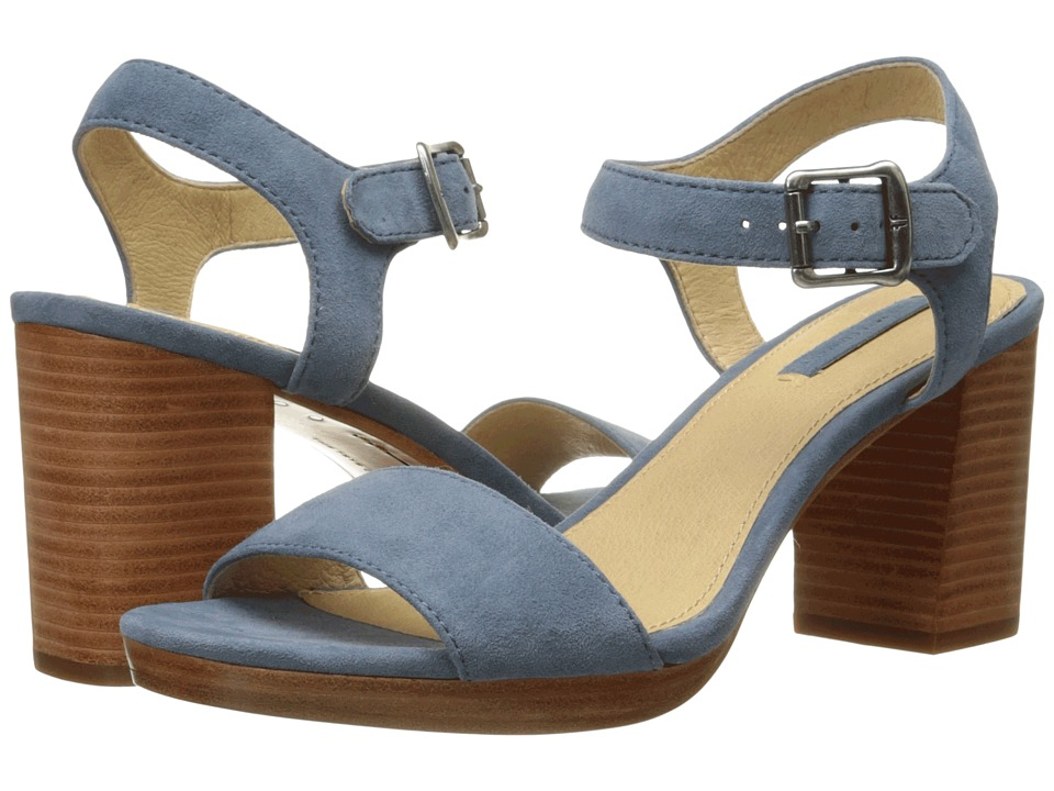Frye - Blake 2 Piece (Blue Suede) High Heels