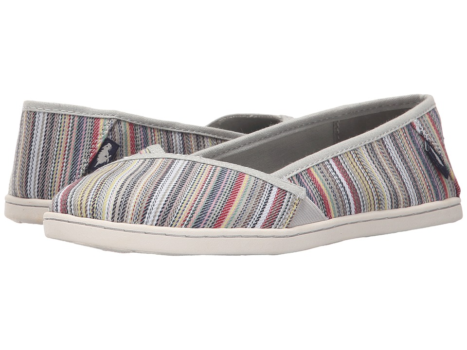 Rocket Dog Hanes Natural Harmony Stripe Womens Flat Shoes