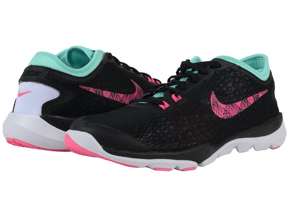 Nike - Flex Supreme TR 4 BTS (Black/Hyper Turquoise/White/Pink Blast) Womens Cross Training Shoes