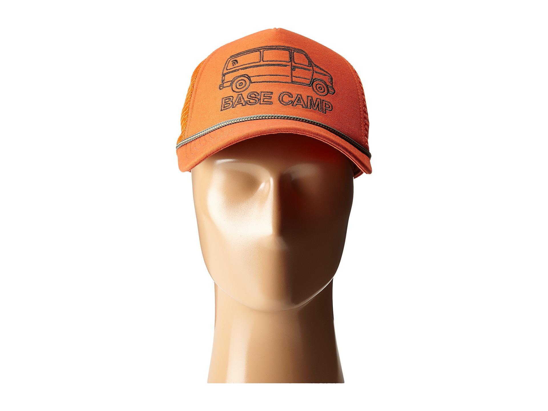 28ac9d158fa The North Face Cross Stitch Trucker Hat Papaya Orange on PopScreen
