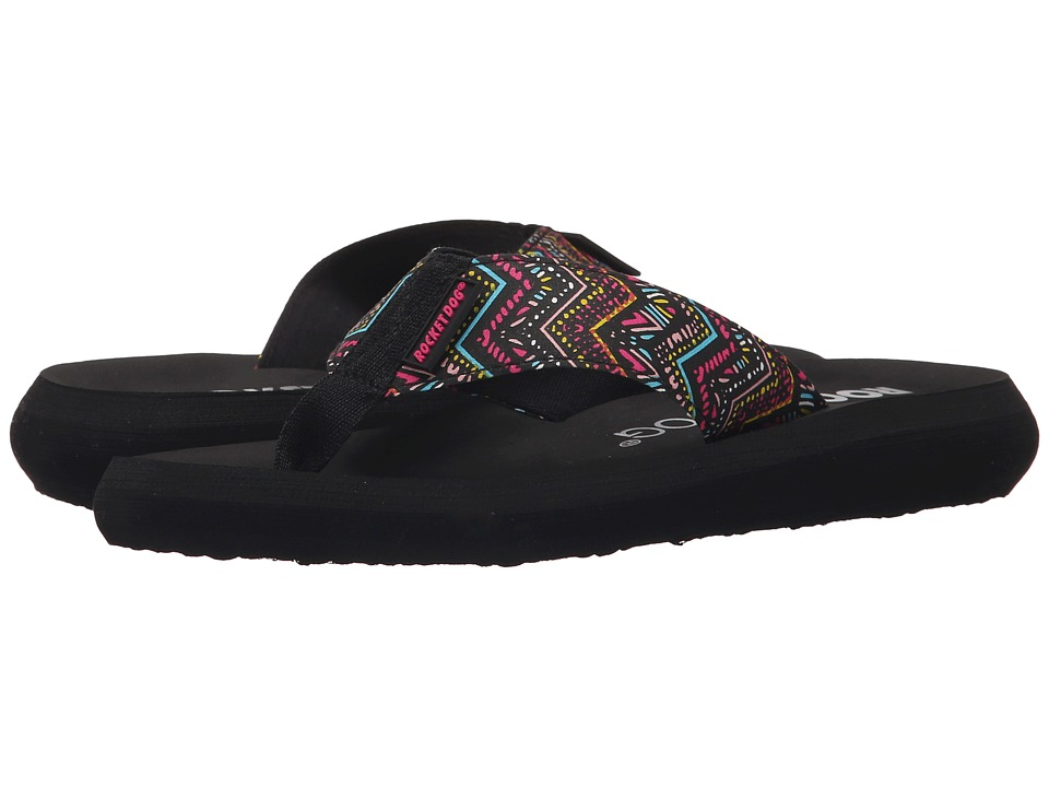 Rocket Dog Spotlight Comfort Black Del Mar Womens Sandals
