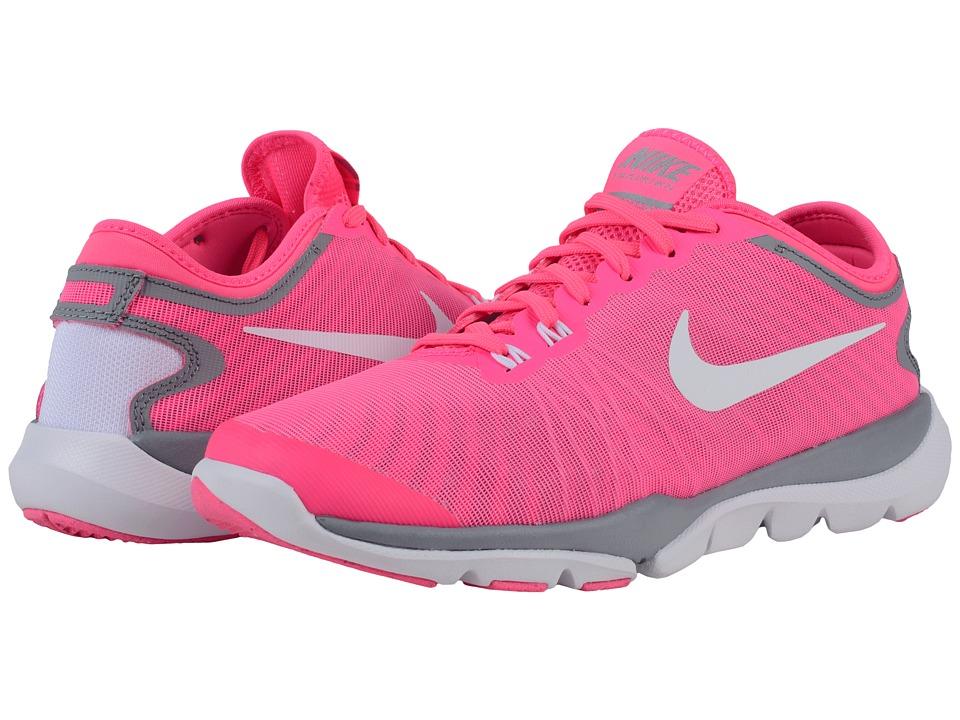 Nike - Flex Supreme TR4 (Pink Blast/Stealth/Hyper Pink/White) Womens Cross Training Shoes