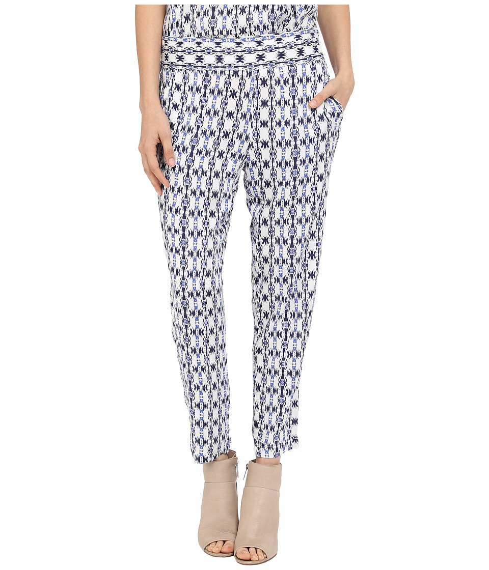 Jack by BB Dakota Antonia Inkblot Stripe Printed Rayon Crepe Ankle Pants Multi Womens Casual Pants
