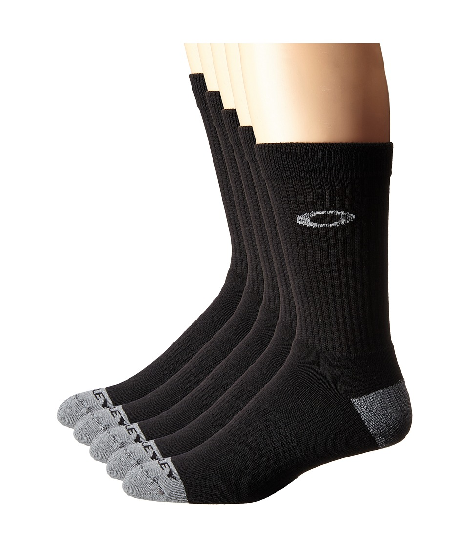 Oakley Performance Basic 5 Pack Crew Socks Black Mens Crew Cut Socks Shoes