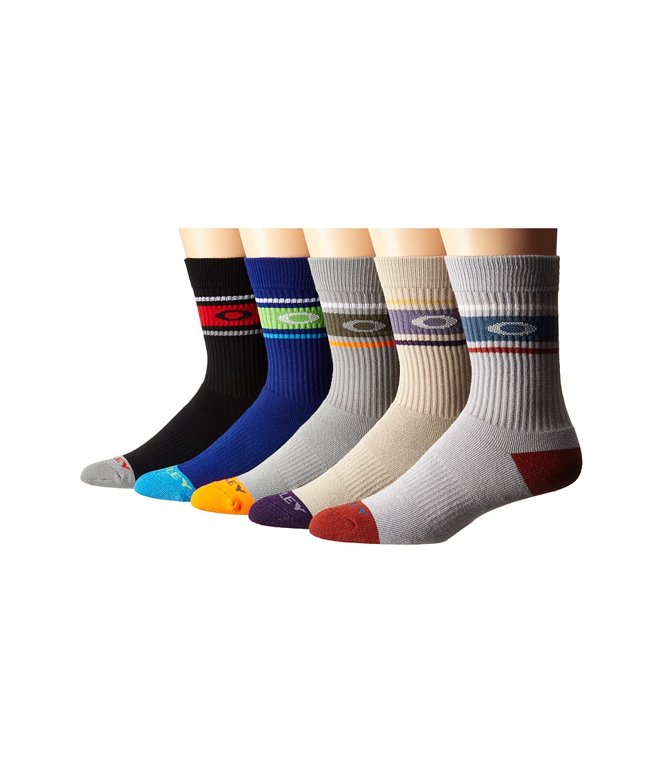 Oakley Performance Basic 5 Pack Crew Socks Miscellaneous Mens Crew Cut Socks Shoes