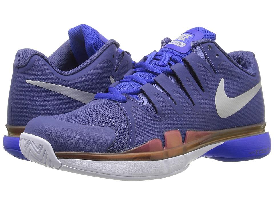Nike - Zoom Vapor 9.5 Tour (Dark Purple Dust/Racer Blue/Hyper Pink/Metallic SIlver) Womens Tennis Shoes