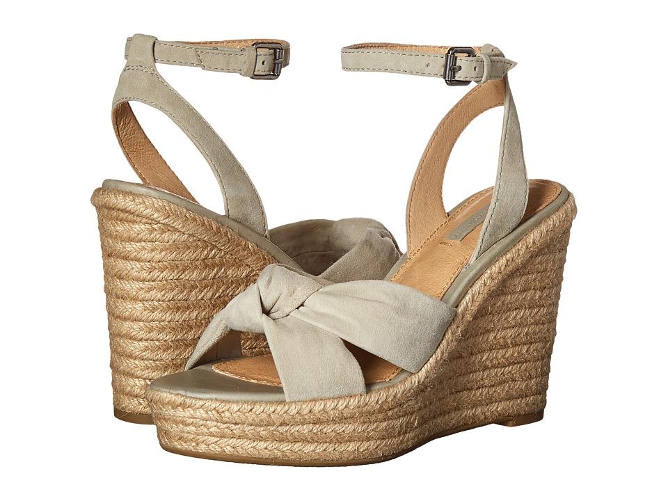 Frye Charlotte Twist Ankle Sandal Sage Suede Womens Wedge Shoes