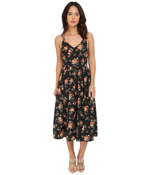 Jack by BB Dakota Lizzie Rose Revival Printed Crepon Midi Dress !