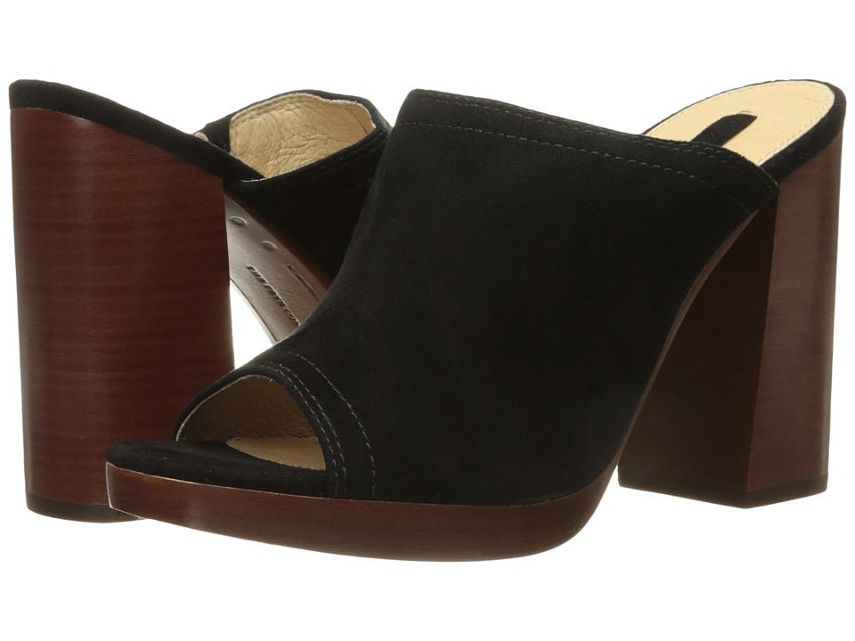 Frye - Karissa Mule (Black Suede) High Heels