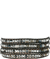 Chan Luu - 32' Grey Banded Agate Mix Crystal Wrap Bracelet