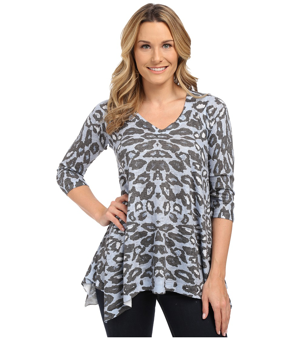 Nally amp Millie Animal Print Tunic Blue Multi Womens T Shirt