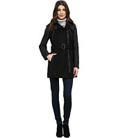 Kenneth Cole New York - Mixed Media Asymmetrical Zip Front Wool Coat