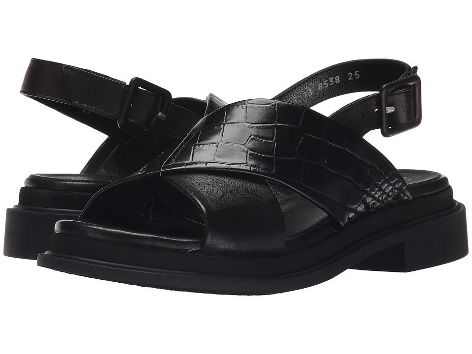 Robert Clergerie Calientek Black Croc Womens Shoes