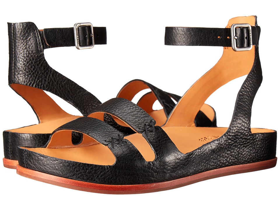 Retro Sandal History: Vintage and New Style Shoes Kork-Ease - Audrina Black Womens Sandals $115.99 AT vintagedancer.com