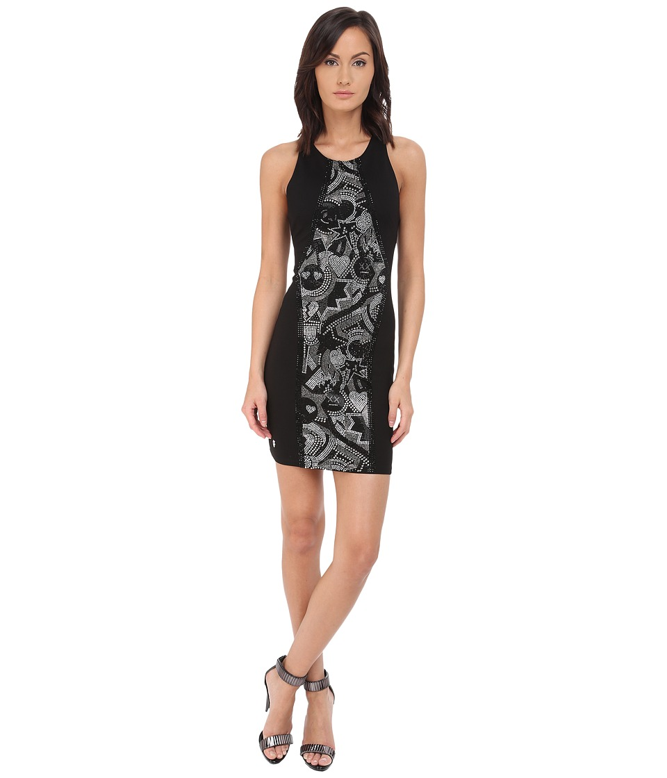 Philipp Plein Crystal Dress Black Womens Dress