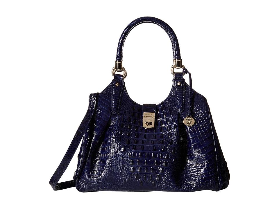Brahmin Elisa Ink Satchel Handbags