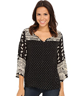 Angie - Long Sleeve Print Top