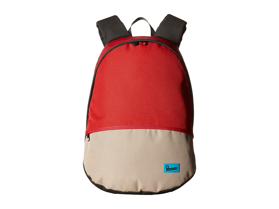 Crumpler - The Private Zoo Laptop Backpack (Dark Red/Rust Red/Oatmeal) Backpack Bags
