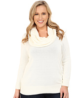 MICHAEL Michael Kors - Plus Size Deep Cable Cowl Neck