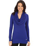 MICHAEL Michael Kors - Deep Cable Cowl Neck