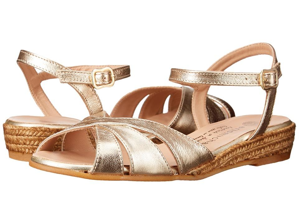 Vintage Sandals | Wedges, Espadrilles – 30s, 40s, 50s, 60s, 70s Eric Michael - Vanessa Gold Womens Shoes $119.95 AT vintagedancer.com