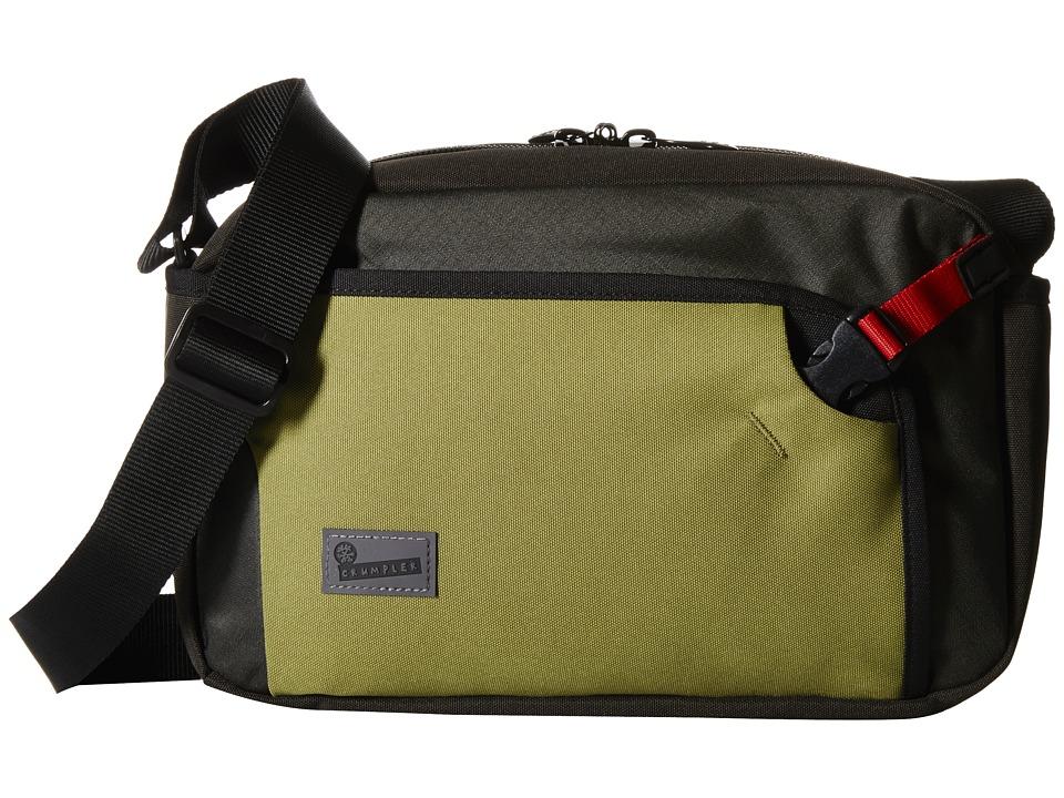 Crumpler - The Dry Red No 2 Boarding Bag (Khaki/Gunmetal) Cross Body Handbags