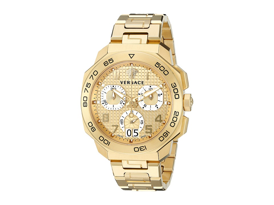 Versace Dylos Chrono VQC04 0015 Yellow Gold Watches