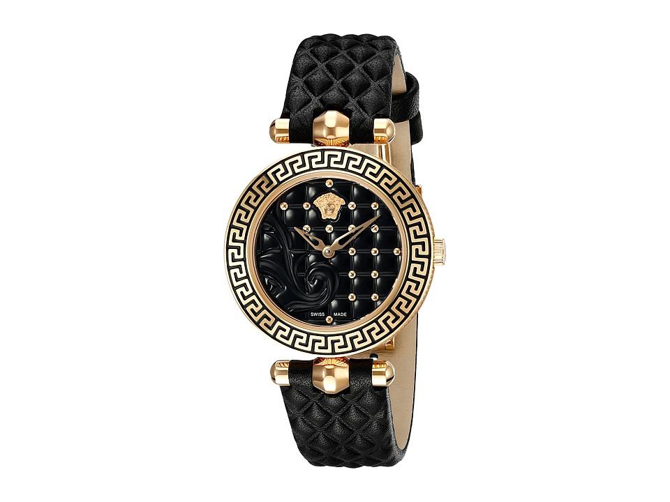 Versace Vanitas 30mm VQM01 0015 Rose Gold/Black Watches
