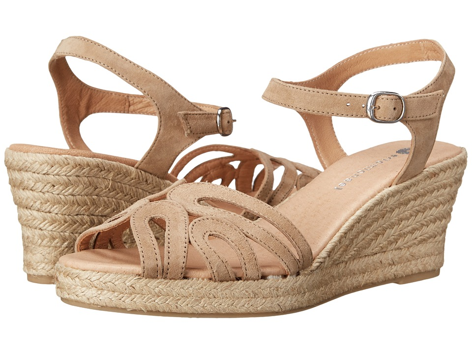 Vintage Style Sandals – 1930s, 1940s, 1950s, 1960s Eric Michael - Marilyn Natural Womens Shoes $129.95 AT vintagedancer.com