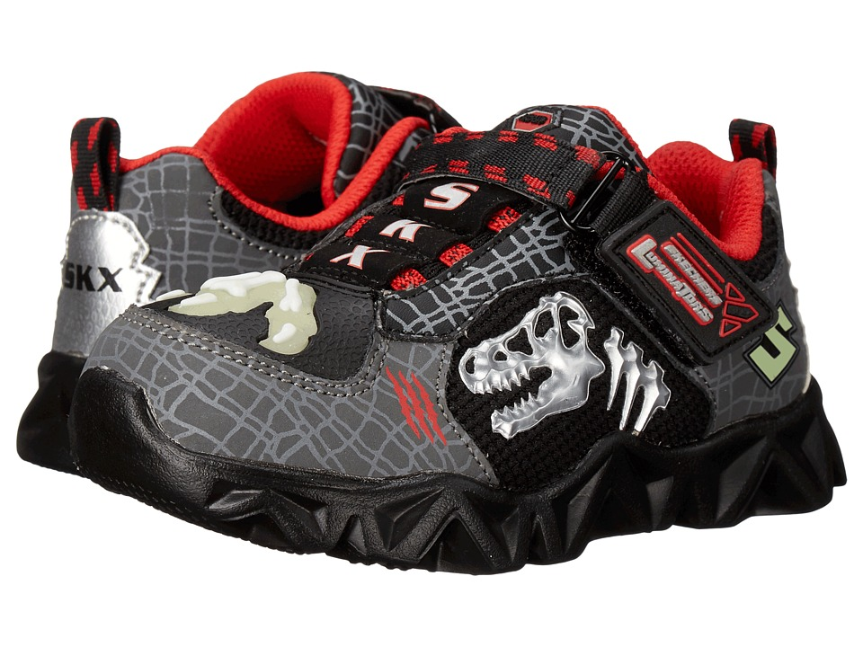 SKECHERS KIDS Datarox Extinct 90461N Lights Toddler Charcoal/Black/Red Boys Shoes