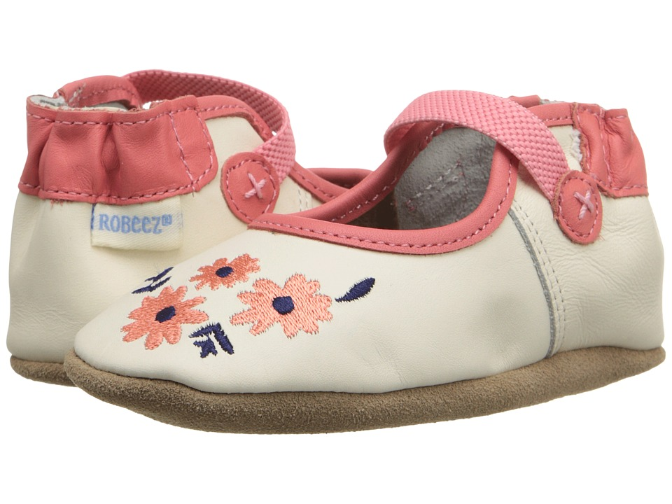 Robeez Emma Mary Jane (Infant/Toddler) (Vanilla) Girls Shoes