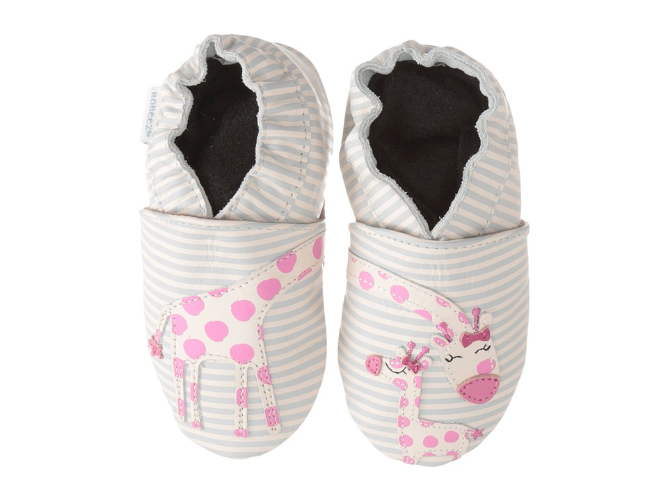 Robeez Reach For The Stars Soft Sole (Infant/Toddler) (Cream) Girls Shoes