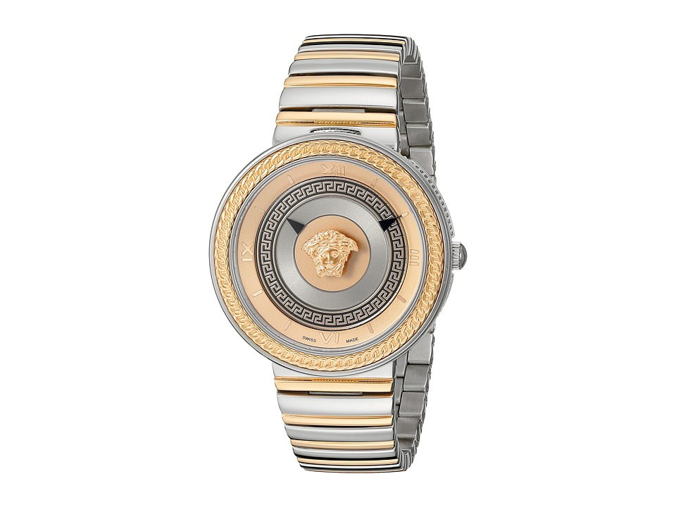 Versace V Metal Icon VLC08 0015 Stainless Steel/Rose Gold Watches