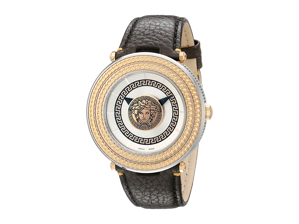 Versace V Metal Icon 46mm VQL01 0015 Stainless Steel/Rose Gold Watches