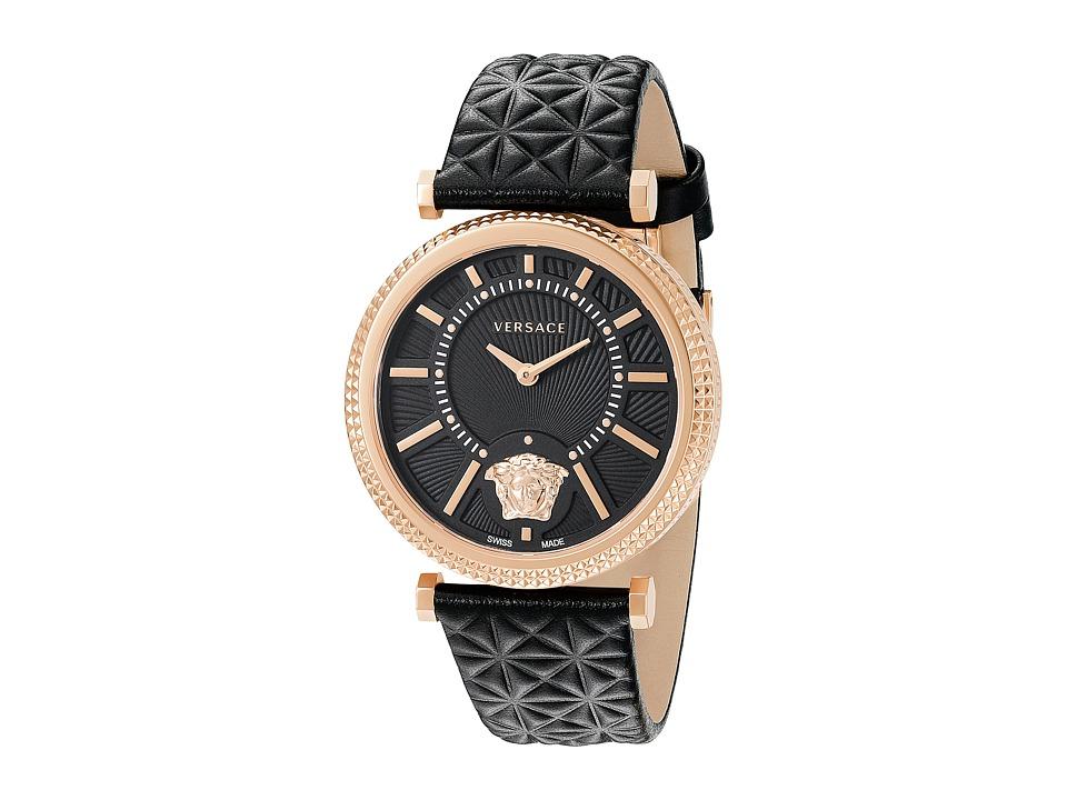Versace V Helix VQG04 0015 Rose Gold/Black Watches