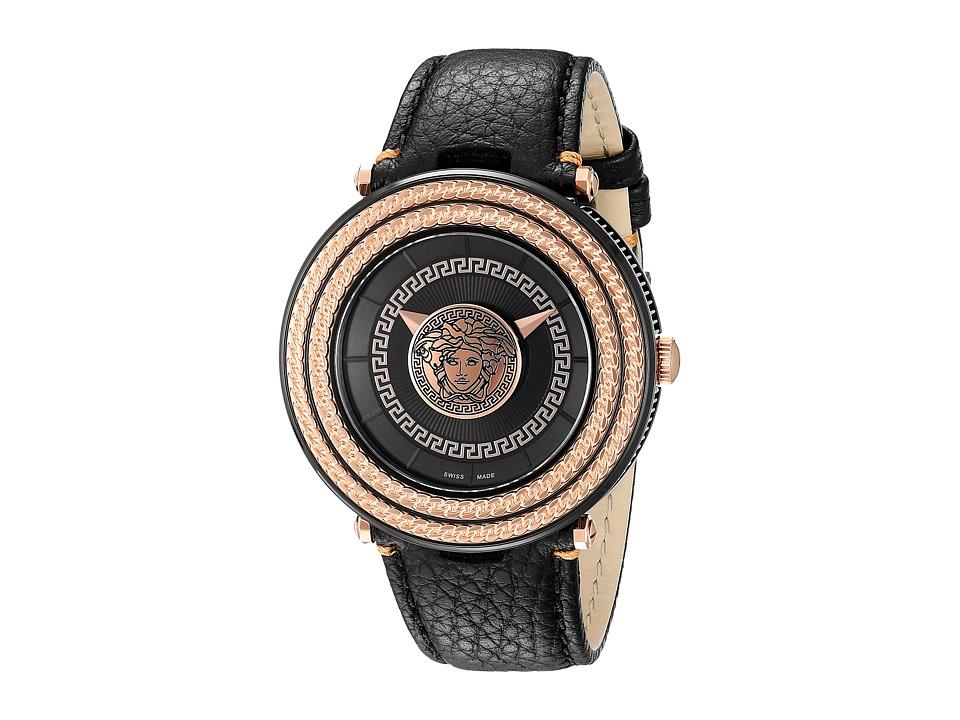 Versace V Metal Icon 46mm VQL03 0015 Rose Gold/Black Watches